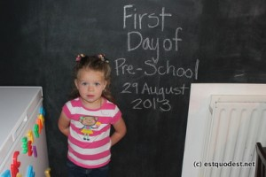 Liesl's First Day of School