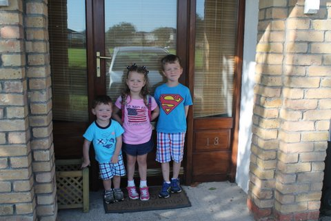 Sibling pic on her first day