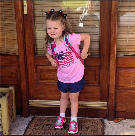 Liesl on the first day of school, 2014